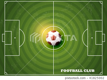 Soccer field with football Top view 41825002