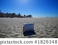 沙灘和手提箱 41826348