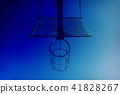 Basketball basket with chains on streetball court 41828267