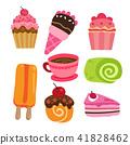 咖啡 甜食 紙杯蛋糕 41828462