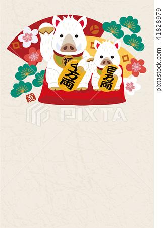 新年卡設計橫濱2019年新年卡 41828979