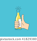 like-hand sign with raised thumb 41829380