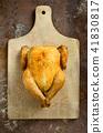 chicken roast christmas 41830817