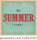 It's Summer Time Retro Card 41832597