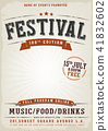Music Festival Vintage Poster 41832602