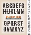 Vintage Western And Tattoo ABC Font 41832603