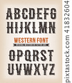 Vintage Western And Circus ABC Font 41832604