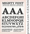 Mighty Western Font Regular, Shadow And Grunge 41832606