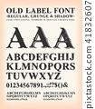 Vintage Old Label Western Font 41832607