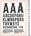 Vintage Classic Western And Tattoo ABC Font 41832608