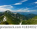 来自越后 - 驹岳山脊线的Nakanodake以及蜿蜒山脉和谷川岭的远景 41834032