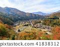 Shirakawago dyeing in autumn color 41838312