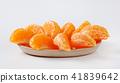 slices of fresh tangerine 41839642