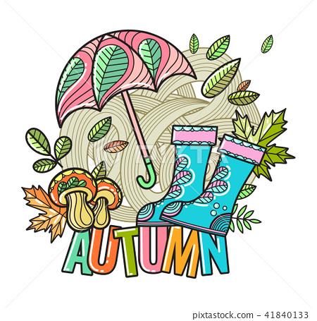 Beautiful vector autumn composition  41840133