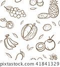 fruits, vector, tropical 41841329