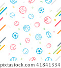 Sport theme seamless pattern background 41841334