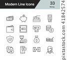 Money icons. Modern line design set 33. 41842574