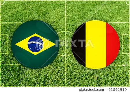 Brazil vs Belgium football match 41842919