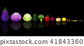 Set of fresh vegetables on dark background 41843360