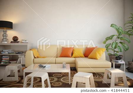 Blank wall interior 41844451