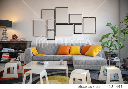 Picture frame set in the living room 41844454