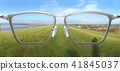 3D Illustration of clear vision through glasses 41845037