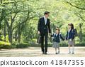 가족 초등학생 통학 통근 입학식 이미지 41847355