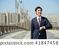 사업가 푸른 하늘 통근 비즈니스 이미지 41847458