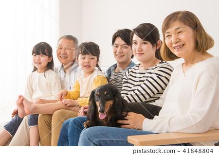 三代家庭形象 41848804