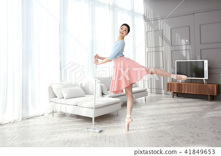 RF Photos- Ballet, graceful movement for lose weight. Concept of healthy lifestyle. 034 41849653