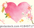 Vector - A card template, frame border for a text with spring elements, invitation, postcards, cards and so on. 008 41849717