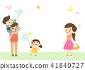Vector - Enjoy spring season with happy family illustration 004 41849727
