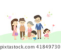 Vector - Enjoy spring season with happy family illustration 003 41849730