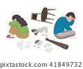 Vector -  all acts of violence illustration. different domestic violence situations on white background. 005 41849732