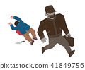 Vector -  all acts of violence illustration. different domestic violence situations on white background. 008 41849756