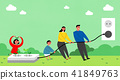 Vector - Eco life vector illustration, flat design for greenery urban element style illustration 011 41849763