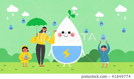 Vector - Eco life vector illustration, flat design for greenery urban element style illustration 008 41849774