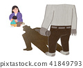 Vector -  all acts of violence illustration. different domestic violence situations on white background. 002 41849793