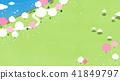 Vector - Beautiful scenes of nature. Springtime flat background 007 41849797