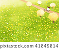 Vector - beautiful spring season landscape painting 003 41849814