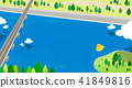 Vector - Beautiful scenes of nature. Springtime flat background 003 41849816