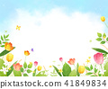 Vector - beautiful spring season landscape painting 002 41849834