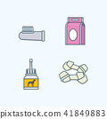Vector - Set of Pets Related Vector Icons. Flat vector related icon for web and mobile applications 031 41849883