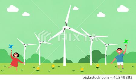 Vector - Eco life vector illustration, flat design for greenery urban element style illustration 002 41849892