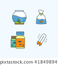 Vector - Set of Pets Related Vector Icons. Flat vector related icon for web and mobile applications 014 41849894