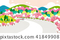 Vector - Beautiful scenes of nature. Springtime flat background 010 41849908