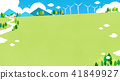 Vector - Beautiful scenes of nature. Springtime flat background 005 41849927