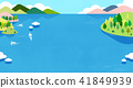Vector - Beautiful scenes of nature. Springtime flat background 009 41849939