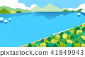 Vector - Beautiful scenes of nature. Springtime flat background 002 41849943