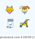 Vector - Set of Pets Related Vector Icons. Flat vector related icon for web and mobile applications 036 41850012
